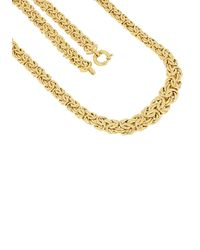 Firetti Goldkette Prächtige Königskettengliederung, 10,5 mm - 15,2 mm breit im Verlauf - Mettallic