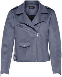ONLY Bikerjacke ONLSHERRY, mit Zipper Details - Blau