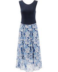 Aniston SELECTED Sommerkleid, im femininen Rosendruck - Blau