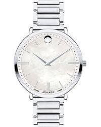 Movado Schweizer Uhr ULTRA SLIM - Mettallic