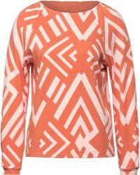 Street One Langarmshirt, mit Allover-Muster - Orange