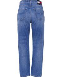 Tommy Hilfiger Straight-Jeans HARPER HR STRGHT ANKLE CBGRR, mit Logo-Badge - Blau