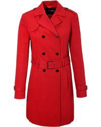 Aniston CASUAL Trenchcoat mit Gürtel zum Regulieren - Rot