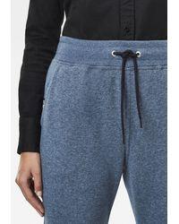 G-Star RAW Sweatpants Premium Core 3D Tapered Sweatpants, 3D Jogginghose mit abgerundeter Designlinie am Knöchel - Blau
