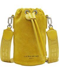 Liebeskind Berlin Beuteltasche June Bucket Bag XS, im Mini Format - Gelb