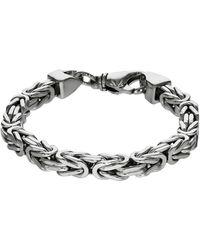 Firetti Silberarmband in Königskettengliederung 4-kant, 7,0 mm breit - Mettallic
