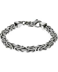 Firetti Silberarmband in Königskettengliederung 4-kant, 6,0 mm breit - Mettallic
