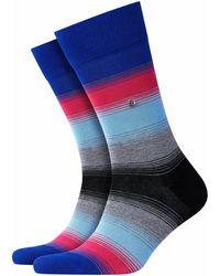 Burlington Socken Ombre Stripe (1 Paar) - Blau