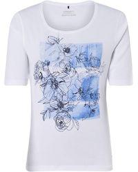 Olsen Rundhalsshirt, aus organic Cotton, mit Front-Print - Weiß