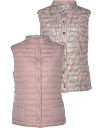 BARBARA LEBEK Steppweste, beidseitig tragbar: unifarben & modisch bedruckt - Pink