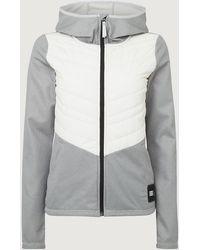 O'neill Sportswear Fleecejacke mit Kapuze - Grau