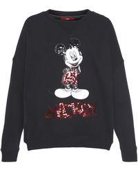 S.oliver Sweatshirt, mit coolem Mickey Mouse Paillettenmotiv - Schwarz