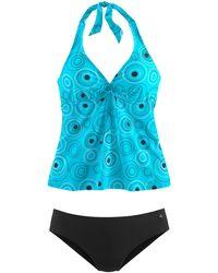 S.oliver Bügel-Tankini, mit schönem Druckdesign - Blau