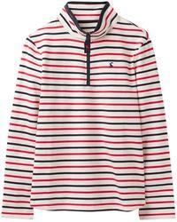 Tom Joule Polo-Shirt mit hohem Kragen und Reißverschluss - Rot