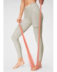 Nike Funktionstights POWER TIGHT HBR GRX GYM HO - Natur