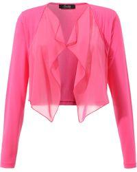 Aniston SELECTED Bolero, mit leicht transparentem Vorderteil - Pink