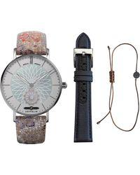 ZEPPELIN Quarzuhr Mandala, Sommer Set Lady, 8131-1 Sommer, (Set, 3 tlg., Uhr mit Wechselband und Armband) - Mehrfarbig