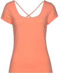 S.oliver Kurzarmshirt mit gekreuzten Bändern im Rücken - Orange