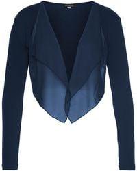 Aniston SELECTED Bolero, mit leicht transparentem Vorderteil - Blau