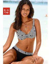 S.oliver Bügel-Bikini, mit grafischem Druckdesign - Mehrfarbig