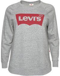 Levi's Sweatshirt Relaxed Graphic Crew - Grau