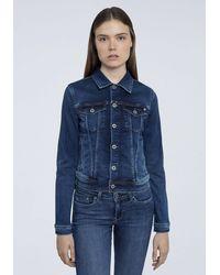 Pepe Jeans Jeansjacke »CORE JACKET« - Blau