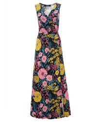 Aniston CASUAL Maxikleid, mit farbintensivem Blumendruck - Mehrfarbig