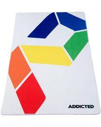 Addicted Drap de Bain AD Rainbow - Blanc