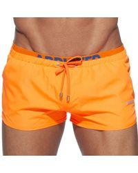 Addicted Short de Bain Double Waistband - Orange