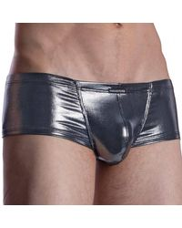 MANSTORE M2010 Hot Trousers Trunks - Metallic