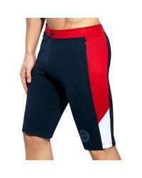 ES COLLECTION Pique Fit Sport Long Shorts - Blue