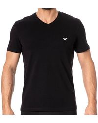 Emporio Armani T-Shirt Shiny Logoband - Noir