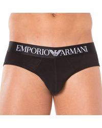 Emporio Armani Slip Stretch Cotton - Noir