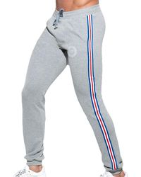 ES COLLECTION Pantalon Sport FIT Tape - Gris