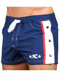 Andrew Christian Snap Swim Shorts - Blue