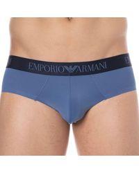 Emporio Armani Slip Bonding Microfibre - Bleu