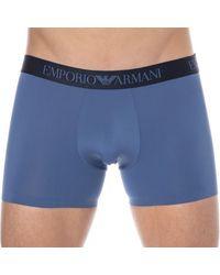 Emporio Armani Boxer Bonding Microfibre - Bleu