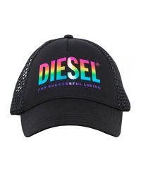 DIESEL Casquette Baseball Rainbow - Noir