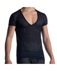 MANSTORE T-Shirt Col V M2051 - Noir