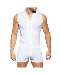 ES COLLECTION Body Sans Manche - Blanc