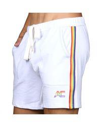 Andrew Christian Short Training Pride - Blanc