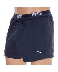 PUMA Logo Swim Shorts - Blue