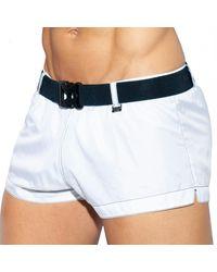 ES COLLECTION Belt Swim Shorts - White