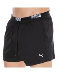 PUMA Short de Bain Logo - Noir