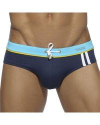 Addicted Slip de Bain Sport Detail Binding Marine - Bleu