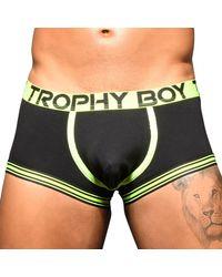 Andrew Christian Trophy Boy Score Trunks - Black