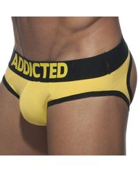 Addicted Basic Colours Empty Bottom Brief - Yellow