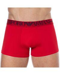 Emporio Armani Boxer Microfibre - Rouge