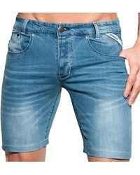 ES COLLECTION Bermuda en Jeans Indigo - Bleu