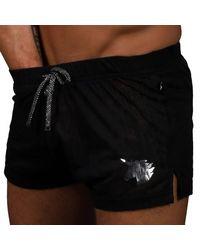 Andrew Christian Glam Unicorn Burnout Short - Black